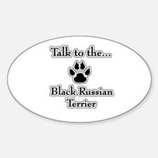 Russian Talk Oval Decal