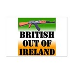 British Out of Ireland Mini Poster Print