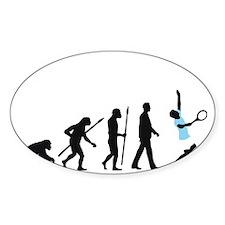 evolution tennis player Decal