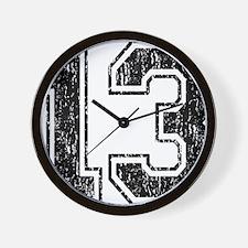 Retro 13 Wall Clock