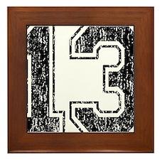 Retro 13 Framed Tile