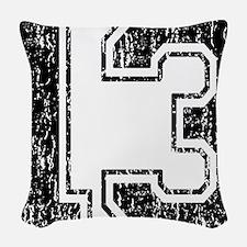 Retro 13 Woven Throw Pillow
