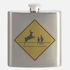 School & Deer Crossing Flask