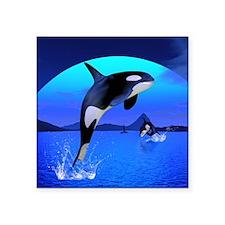 "orca_luggage_handle_wrap_69 Square Sticker 3"" x 3"""
