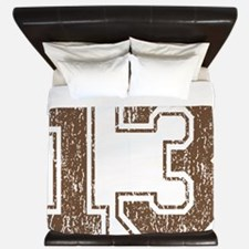 Retro 13 Brown King Duvet