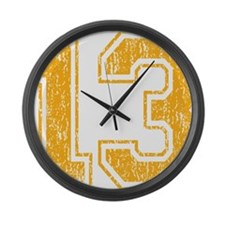 Retro 13 Yellow Large Wall Clock
