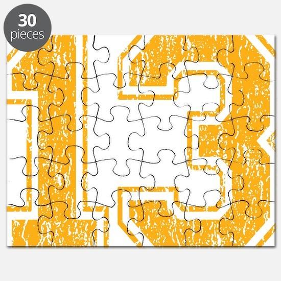 Retro 13 Yellow Puzzle