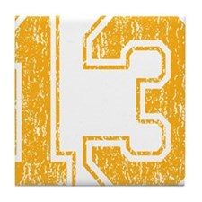 Retro 13 Yellow Tile Coaster