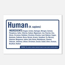 Human Ingredients (blue) Postcards (Package of 8)