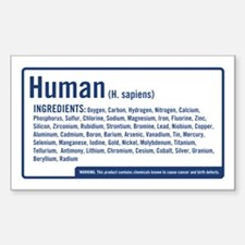 Human Ingredients (blue) Rectangle Decal