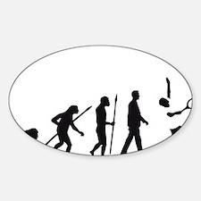 evolution tennis player Sticker (Oval)