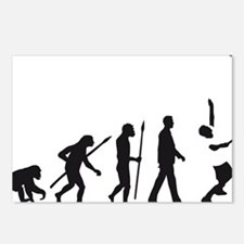 evolution tennis player Postcards (Package of 8)