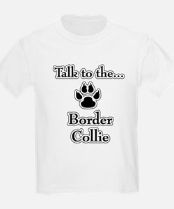 Border Collie Talk Kids T-Shirt