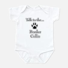 Border Collie Talk Infant Bodysuit