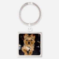 Bella Sarreal on Motorcycle Photo Square Keychain