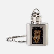 Bella Sarreal on Motorcycle Photo Flask Necklace