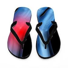 Ankle pain, conceptual artwork Flip Flops