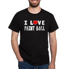 I Love Paint Ball T-Shirt
