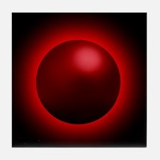 Black hole radiation, artwork Tile Coaster