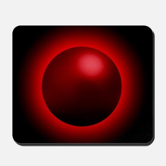 Black hole radiation, artwork Mousepad