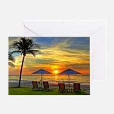Sunset & Palm Trees Greeting Card