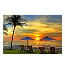 Sunset & Palm Trees Postcards (Package of 8)