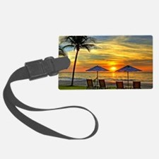 Sunset & Palm Trees Luggage Tag