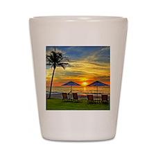 Sunset & Palm Trees Shot Glass