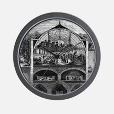 Champagne production, 19th century Wall Clock