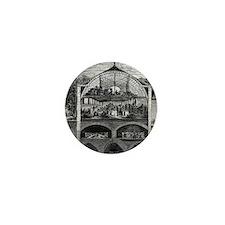 Champagne production, 19th century Mini Button