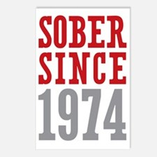 Sober Since 1974 Postcards (Package of 8)