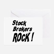 Stock Brokers Rock ! Greeting Cards (Pk of 10)