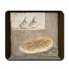 Bread and figs, Roman fresco Mousepad