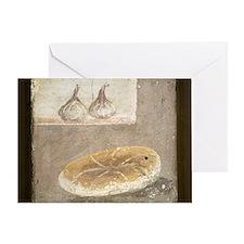 Bread and figs, Roman fresco Greeting Card