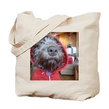 Puppy as Red Riding Hood Tote Bag