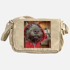Puppy as Red Riding Hood Messenger Bag