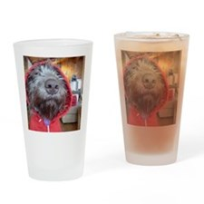 Puppy as Red Riding Hood Drinking Glass
