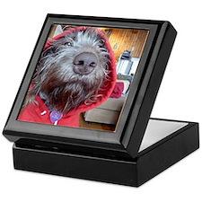 Puppy as Red Riding Hood Keepsake Box