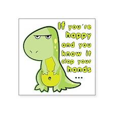 "T-rex hands Square Sticker 3"" x 3"""