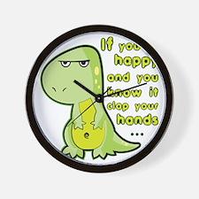 T-rex hands Wall Clock