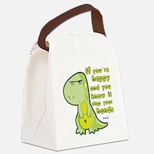 T-rex hands Canvas Lunch Bag