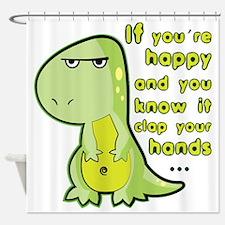 T-rex hands Shower Curtain