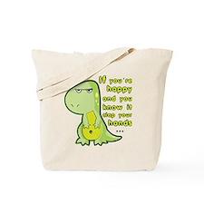 T-rex hands Tote Bag