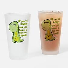 T-rex hands Drinking Glass