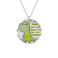 T-rex hands Necklace