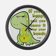T-rex hands Large Wall Clock
