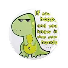 """T-rex hands 3.5"""" Button"""
