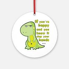 T-rex hands Round Ornament