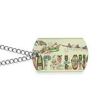 Christmas Papillons and Phalenes Dog Tags