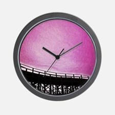 Roller Coaster in Pink Wall Clock